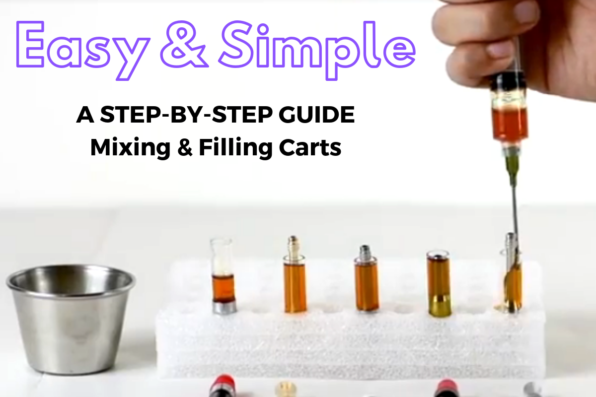 Tutorial: How to mix and fill your own CBD/THC Vape