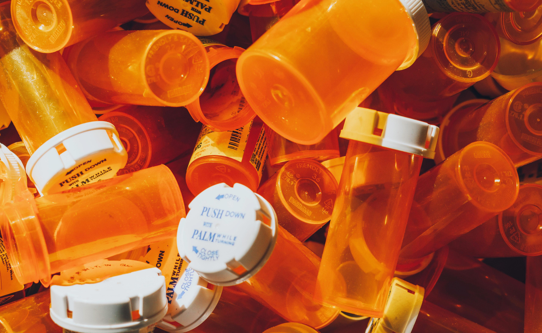 Discarded Medicine Bottles