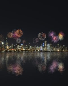 Party in Chicago at New Year