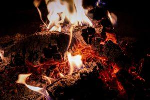 smoking fire
