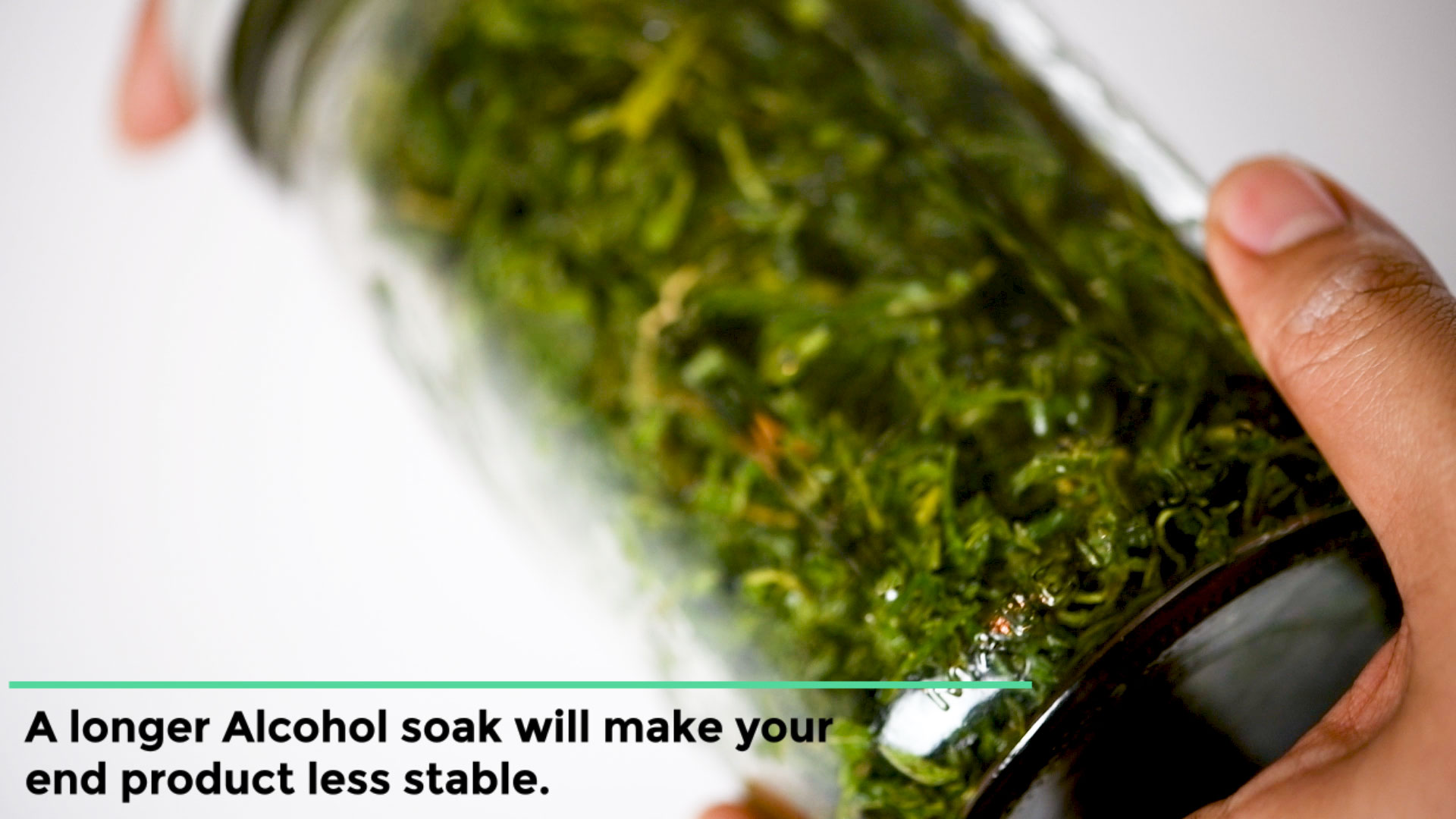 mix alcohol with cannabis to make cheap shatter